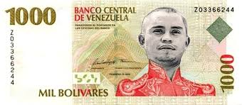 El nuevo billete de 1000 Bolívares.  Foto: http://quepasaenvenezuela.com