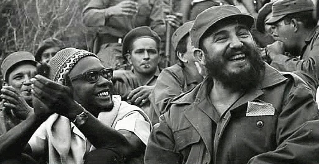 Amilcar Cabral, one of Africa's foremost anti-colonial thinkers, with Fidel Castro. (Photo/ Invent the Future)