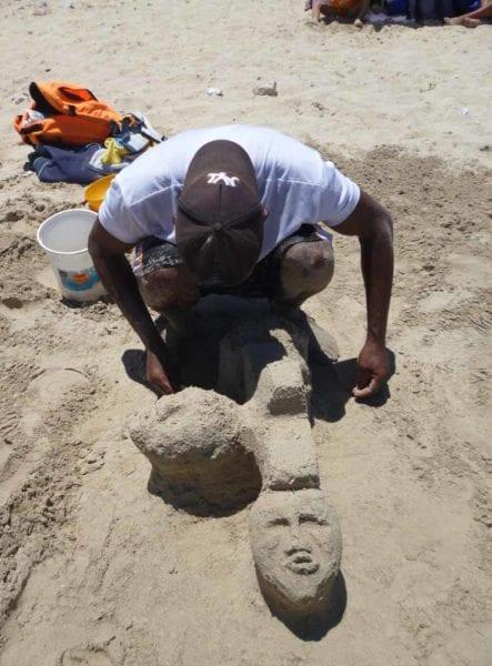 Escultura en arena